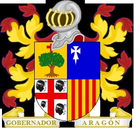 Timbres y ornamentos oficiales del Reino de Aragon Gobernador_aragon