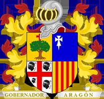 Timbres y ornamentos oficiales del Reino de Aragon Gobernador_aragon200