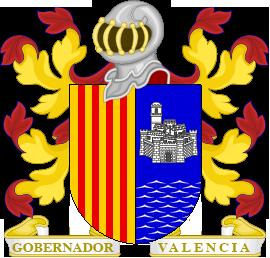 Timbres y ornamentos oficiales del Reino de Aragon Gobernador_valencia