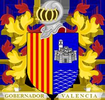 Timbres y ornamentos oficiales del Reino de Aragon Gobernador_valencia200