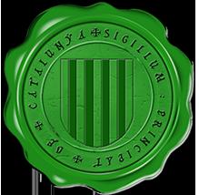 Timbres y ornamentos oficiales del Reino de Aragon Catalunya_vert