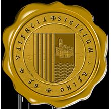 Timbres y ornamentos oficiales del Reino de Aragon Valencia_jaune